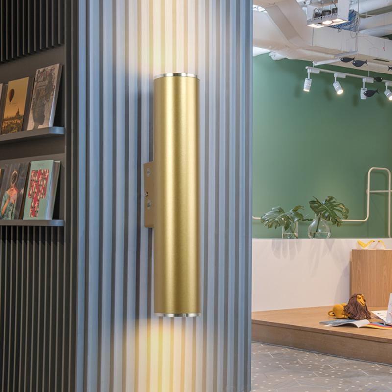 Thrisdar Nordic Golden Up Down Led Wall Light Hotel Bar Cucina Bagno Lampade da parete Lampade da parete Personalità Corridoio Corridoio Aisle Stair Sconce
