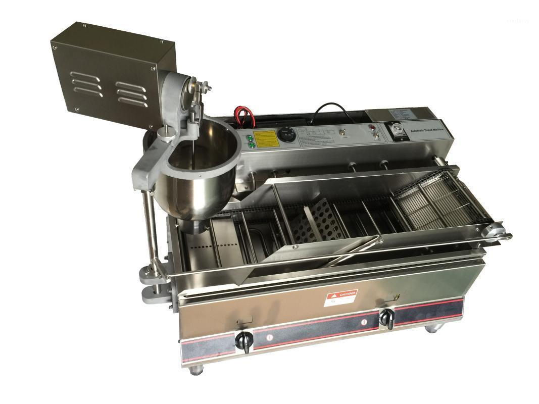 Doble fila automática eléctrica y gas One Donut Machine Commercial Donut Machine Fryer Maker Circle Donut Maker1