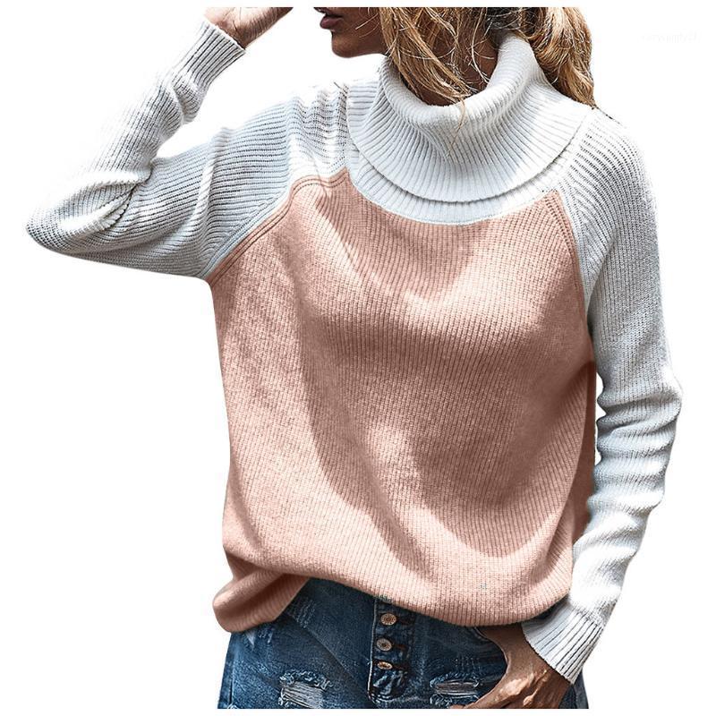 # 45 Knitwear Turtleneck Automne Pulls d'hiver Femmes Néon Couleur À Manches Longues Jumpers Mode 2021 Casual Basic Slim Pullover1