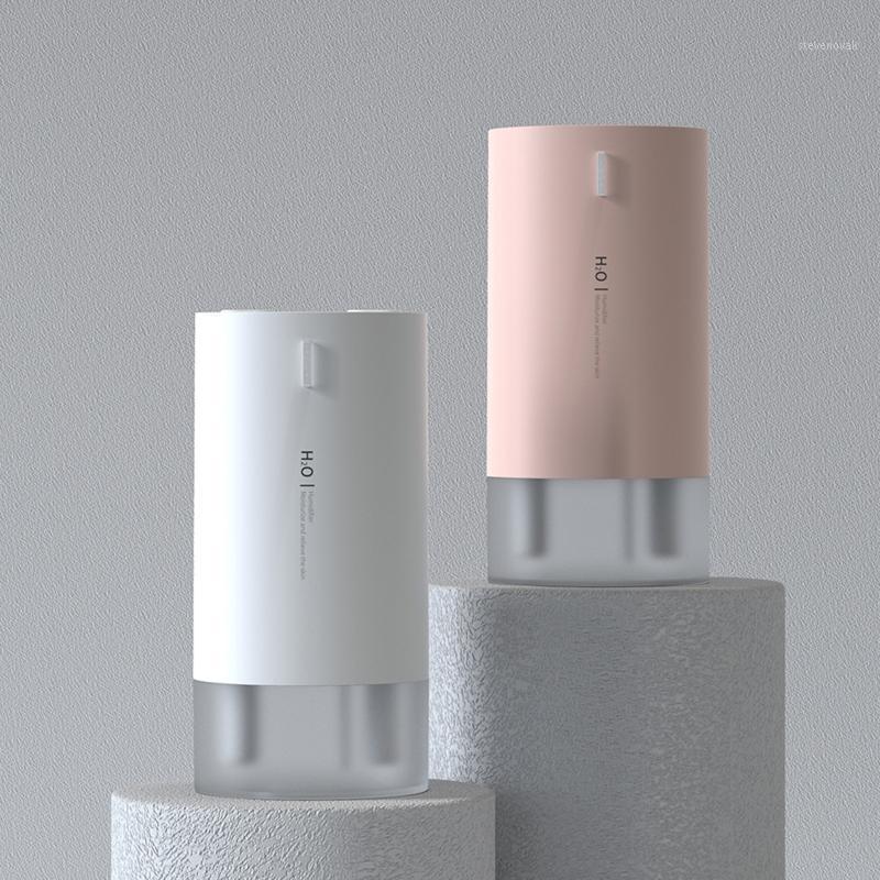 Double Bico USB Air Humidificador 430ml Capacidade de Água Fresco Névoa Foger com luz da noite Ultrasonic Humidificador1