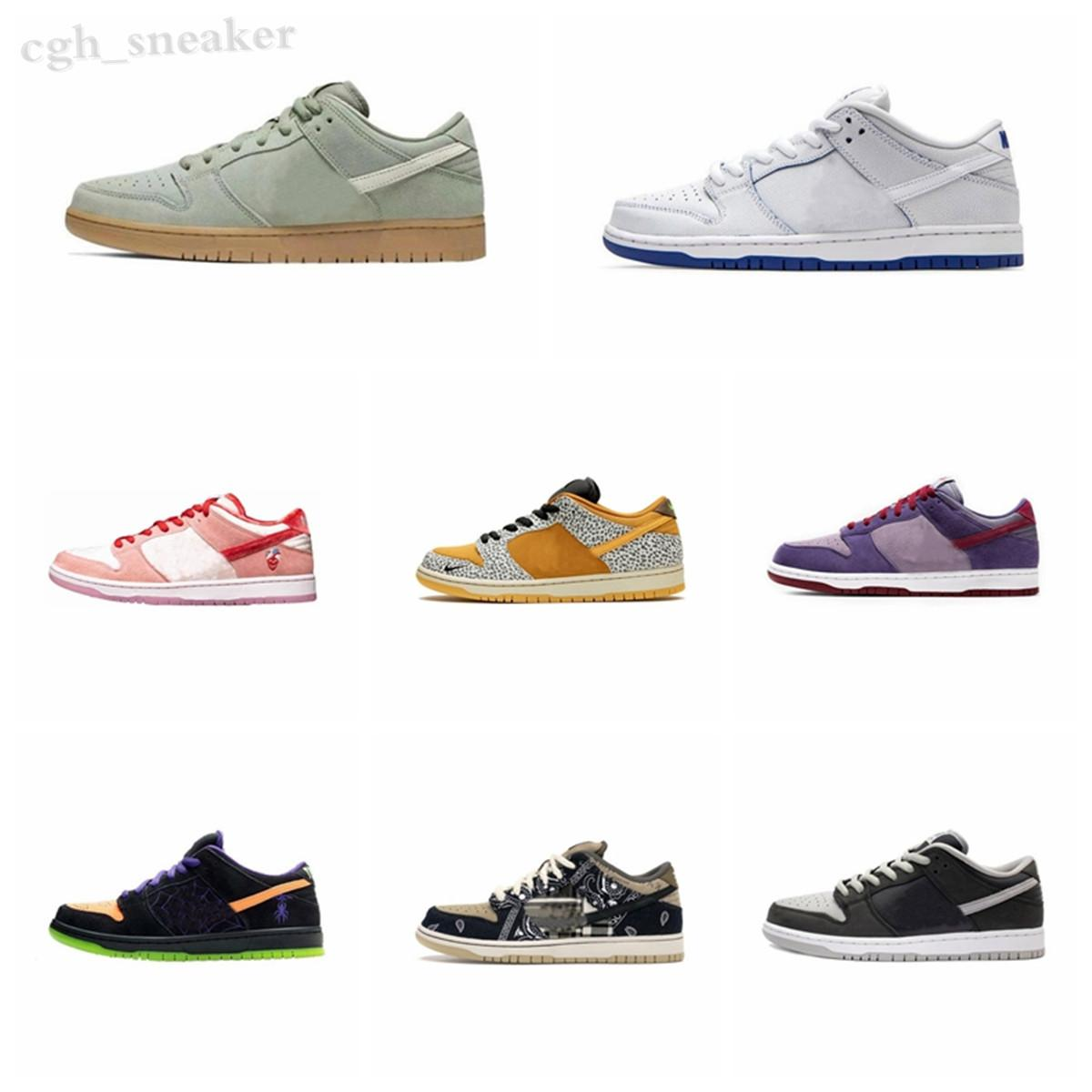Nike Dunk SB Dunk Low Zapatos baratos Chunky Dunky Low Dunk Amarillo Naranja Green Bear Platform Tie-Dye College Midnight Black Rojo Oro Hombres Mujeres Sneakers WR06