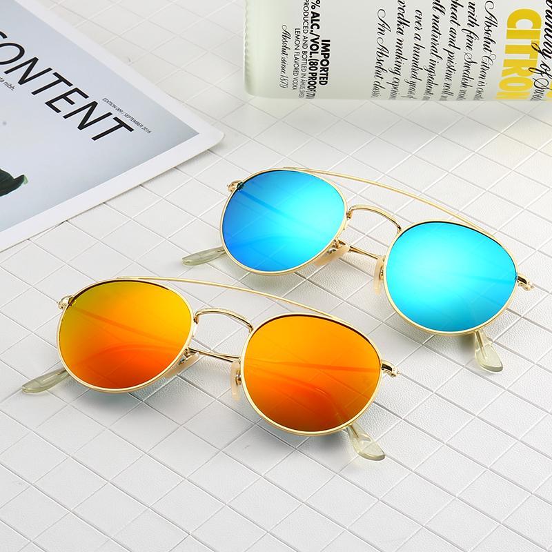 Round .Ban Bolo Mirror Glasses Tortoise Lens Sunglasses Women 49mm Glass Sun K Uv400dr Fleck 1806 Gafas 2020 Cctiw