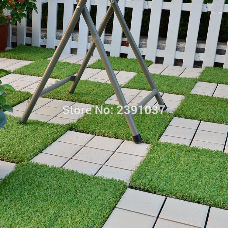 NOUVEAU décoratif herbe artificielle gazon de fond de terrain de terrasse Nouveau matériel de terrasse Patio extérieure Garden Design1