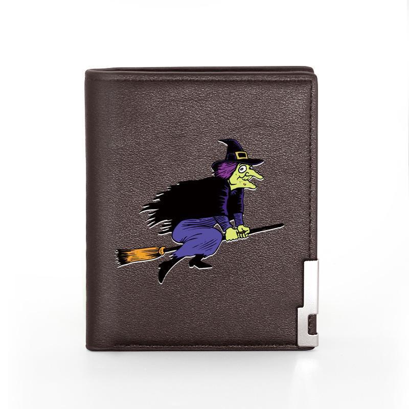 Classic Old Bags uomo maschio uomo portafoglio moneta moneta per supporto per la stampa corta scopa corta borsa slim witch in pelle Aibur