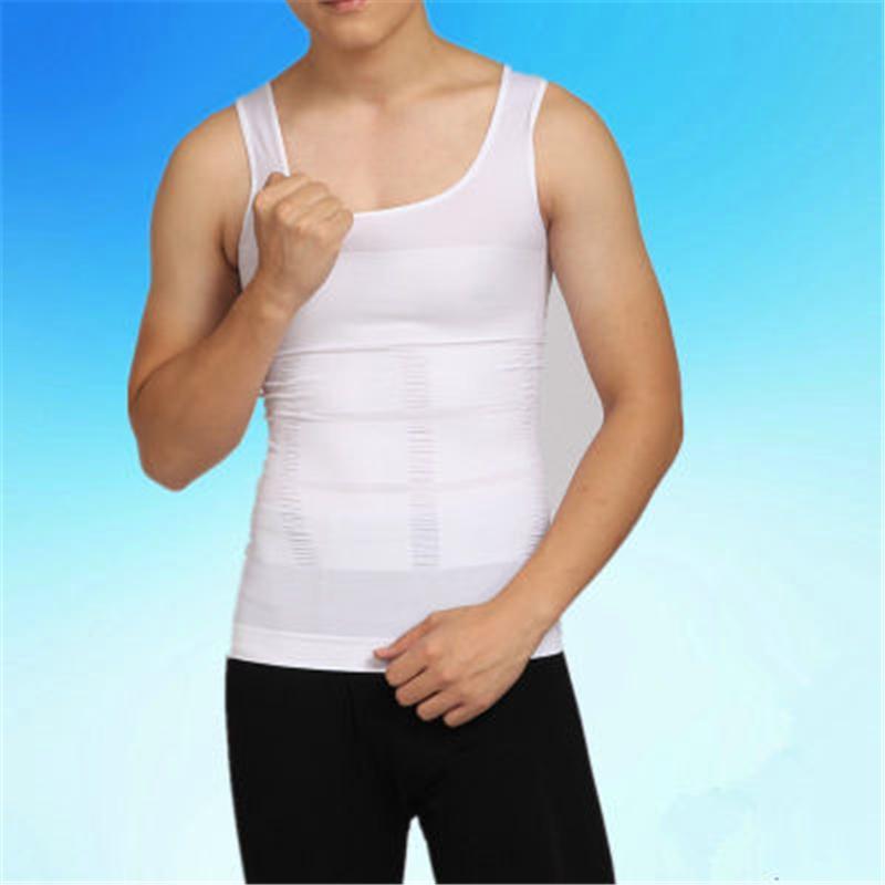 Мужские формирователи тела футболка мода тенденция живота корсет талии со спортом спортивный дизайнер мужской похудение камизол корсет без рукавов топы без рукавов