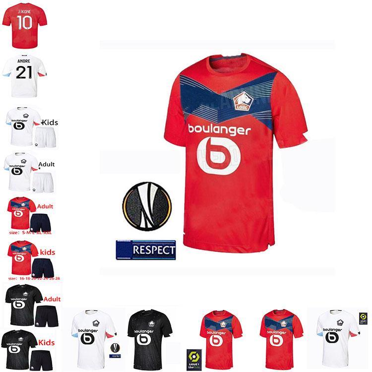 Losc Lille Soccer Jersey Tshirt 20 21 Camicia da calcio domestica di Osimhen T-shirt Bamba T-shirt R. Sanches Adulti Kids Kit Camicie Camisa Camiseta Maillot