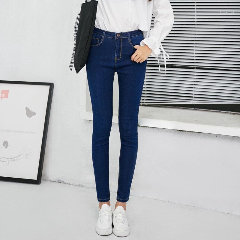 Jeans Femme 2020 Spring Skinny Skinny Boyfriend Denim Pantalon crayon pour femmes Élastique Taille haute Slim Fit Jeans Plus Taille1