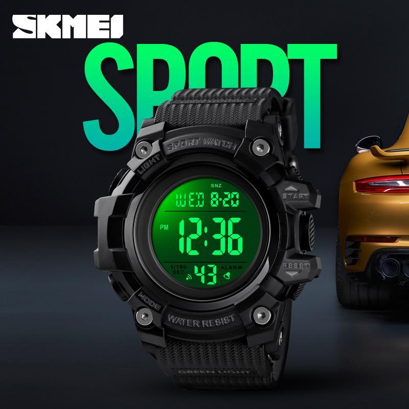 Digital Herrenuhren Luxus Militär Armbanduhr Chronograph Countdown Sportuhr 50m Wasserdichte Herren Sport Armbanduhr