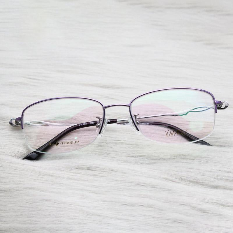Strass Titanium Brillen Rahmen Modedesigner Iced Out Frauen Frames Fill verschreibungspflichtigen Brillen Herren-Accessoires