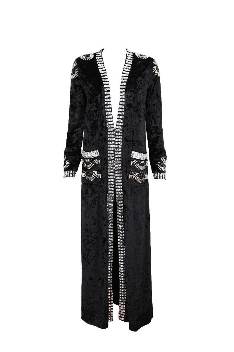 Women's Jackets Top Quality 3 Colors Fashion Women Coat Black Grey Brown Beading Long Faux Suede 2021