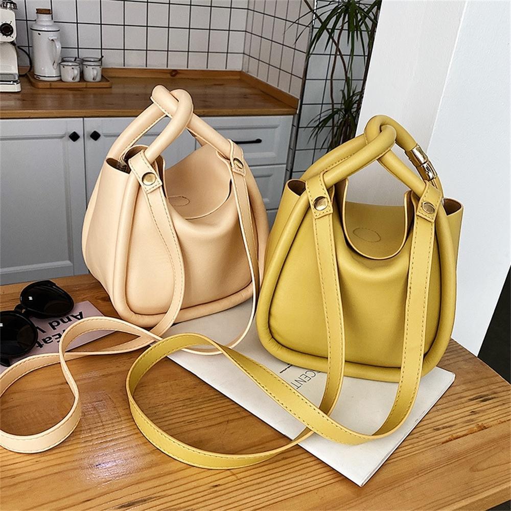 Crossbody Çantalar için Rahat Çanta Tasarımcı Kova PU SACı Deri Omuz Lady Çanta Lüks Büyük Kadınlar Kadın Çanta 2021 Yaz DMWLU
