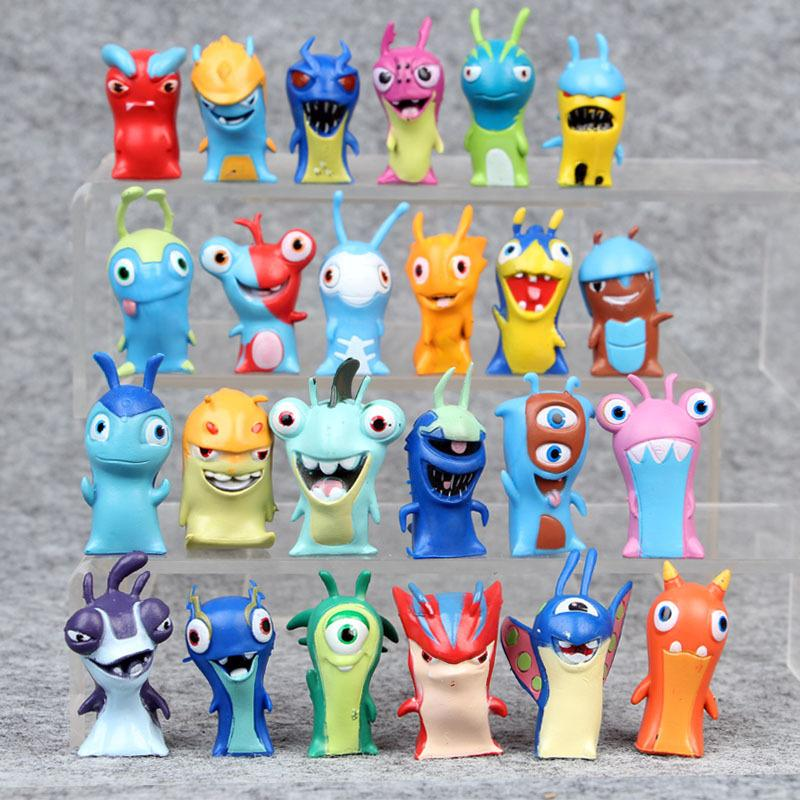 Slugterra PVC Dolls 24Pcs/set 4-5 cm Cartoon Slugterra 2 Action Figures PVC Plastic Dolls Toys Gift For Christmas Gift Free Shipping