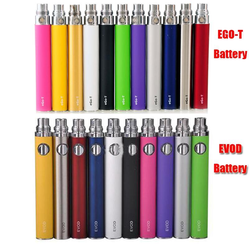 Ego-T EVOD Battery 650 900 1100mAh Battery For 510 eGo Thread CE4 MT3 Nautilus Mini Protank 3 Atomizer Clearomizer