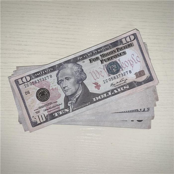 Stage Dollar Counterfeet Sale Gun Banknote PROP L0129-11 Коллекция Играть Поддельные фильма Партия XLXAS Atmosphere Banknote 10 бар Горячая игрушка Mone QGGQ