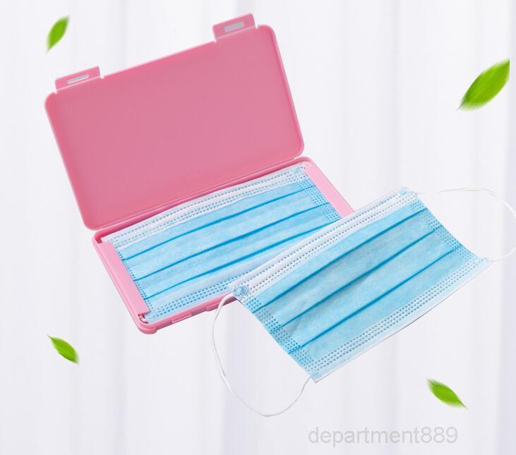 Caixas de rosto Caixa de plástico portátil máscara de poeira caso titular reutilizável dobrável dobrável escritório organizador OWC2610