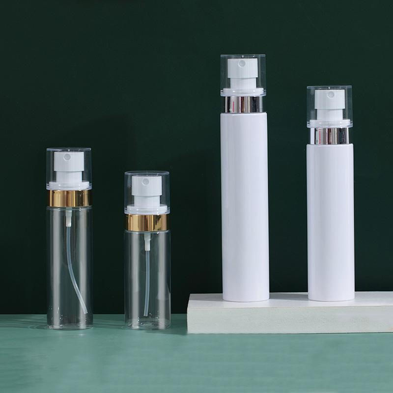 Bouteilles de parfum en plastique pour animaux de compagnie Contenants cosmétiques Pompe de pompage Bouteilles de voyage Voyage Sous-bouteille 60ml 80ml 100ml 120ml