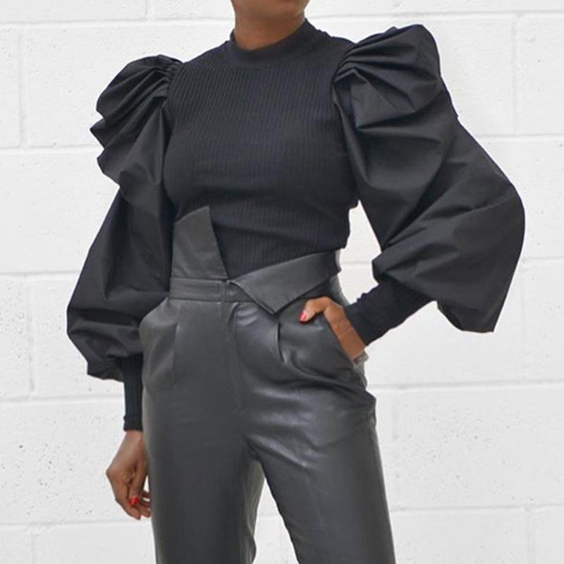 New Womens langärmliges V-Ausschnitt Brief Stickerei Mode Slim T-Shirt Frauen Mode Kleidung Hemden Top Sommer Langarm Party