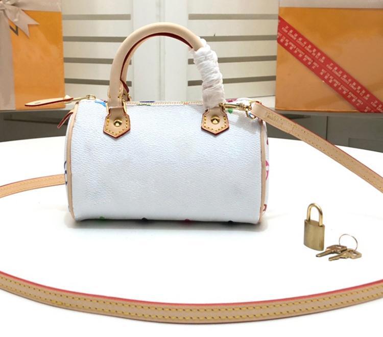 لون جديد سيدة مصغرة حقيبة يد جودة عالية جلد طبيعي حقيبة يد فاخرة أنيقة المرأة عارضة حقائب الكتف