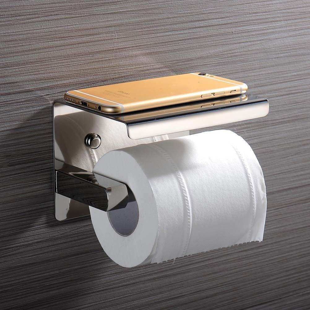 Pastel de baño de papel higiénico de tejido Percha de soporte con estantería de estante para hotel Home Y200108