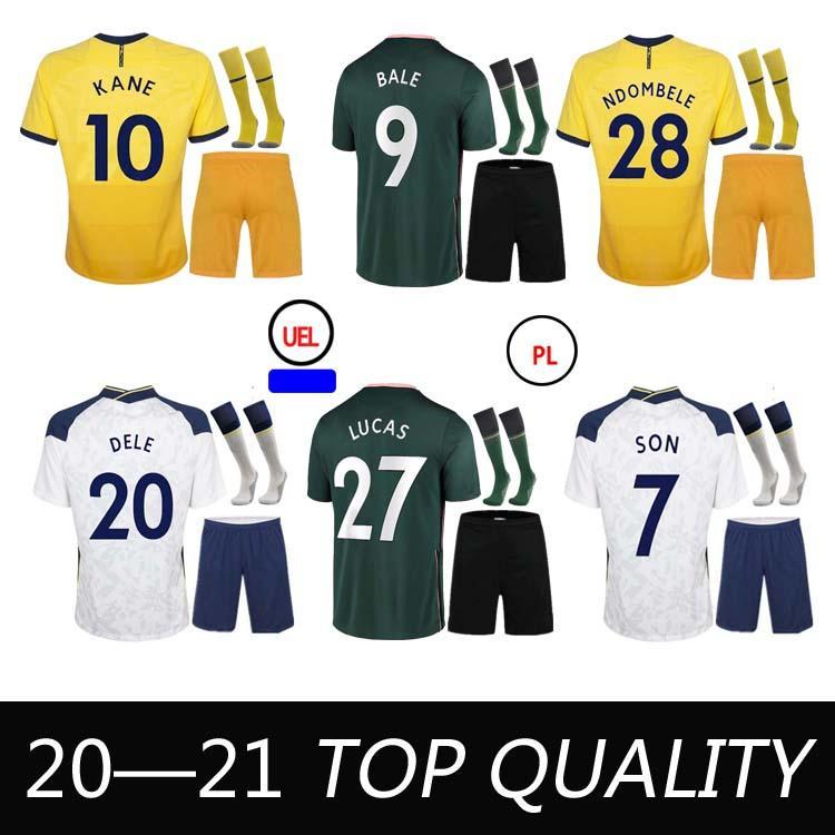 2021 personalizado camisola de futebol Kane filho Bergwijn Ndombele Dele Lucas Camisa de futebol Lo Celso Morgan Bale Lamela Men + Kit Kits com meias