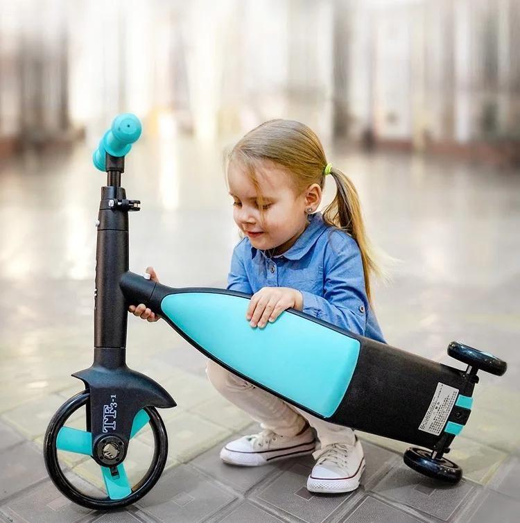 Baby scooter triciclo bebê 3 em 1 equilíbrio bicicleta equilíbrio carro passeio em brinquedos crianças presentes de Natal triciclo de alta qualidade