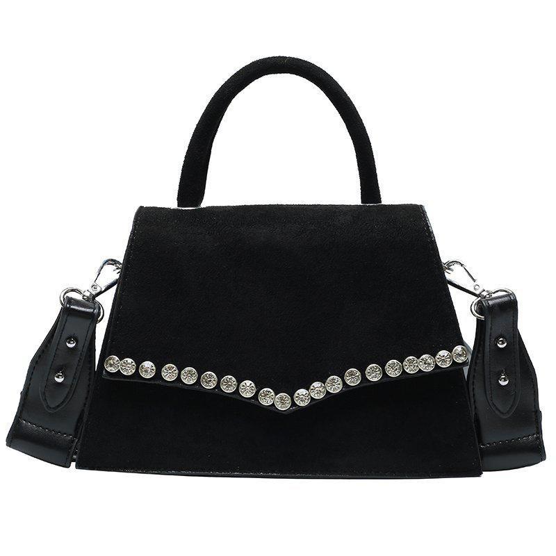 HBP Shoulder Bag Zebra Strip Print Handbag Purse Magetic Hasp Flap Messenger Bags with Rhinestone Accessories Ladies Tote bag