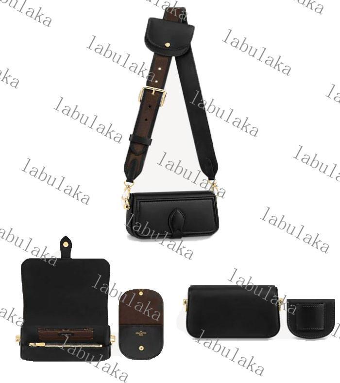 M69841 officier mini bolsa Desinger Genuine Cowhide de couro de couro mulheres deslizando bolsa bolsa bolsa de bolsa de embreagem bolsa de ombro