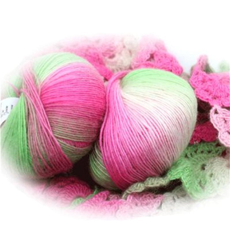 6 unids / paquete Hilo de cachemira de punto Chunky tejido de lana tejido de lana de lana colorido anotaciones de tejido de lana agujas de hilo de ganchillo