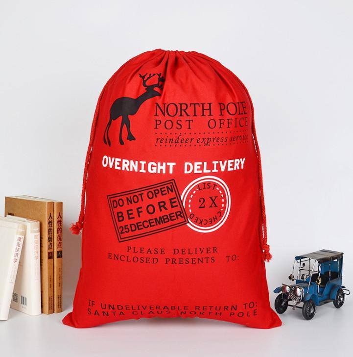 أحدث 70x50CM الحجم، حقيبة هدايا عيد الميلاد، زينة عيد الميلاد، حقيبة القطن عيد الميلاد، القطن قماش الرباط الجيب، شحن مجاني