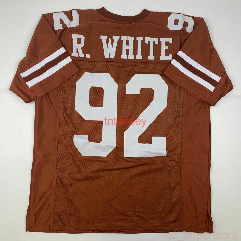 Cheap пользовательский новый reggie белый Tennessee Orange College сшитый футбол для футбола добавляет любой номер имени