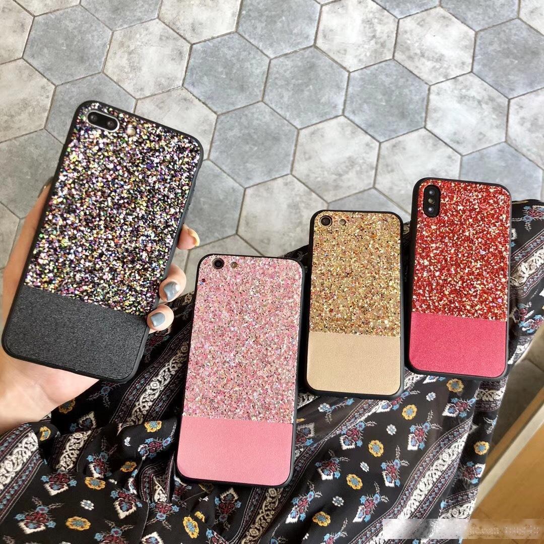 Bling de paillettes ultra mince sline sline paillettes acrylique shine coquille de couverture pour iPhone 6 plus 7 8 x 8 x