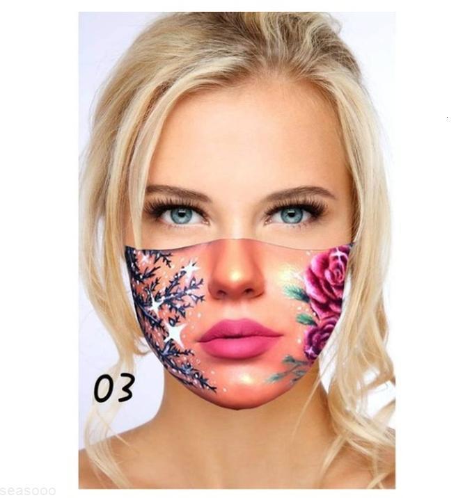 Moda masque 1 pc máscara adulta Rápido entrega de máscara impresso para proteção lavável máscara facial headband dentro de 24 horas sqcmsn ppshop01