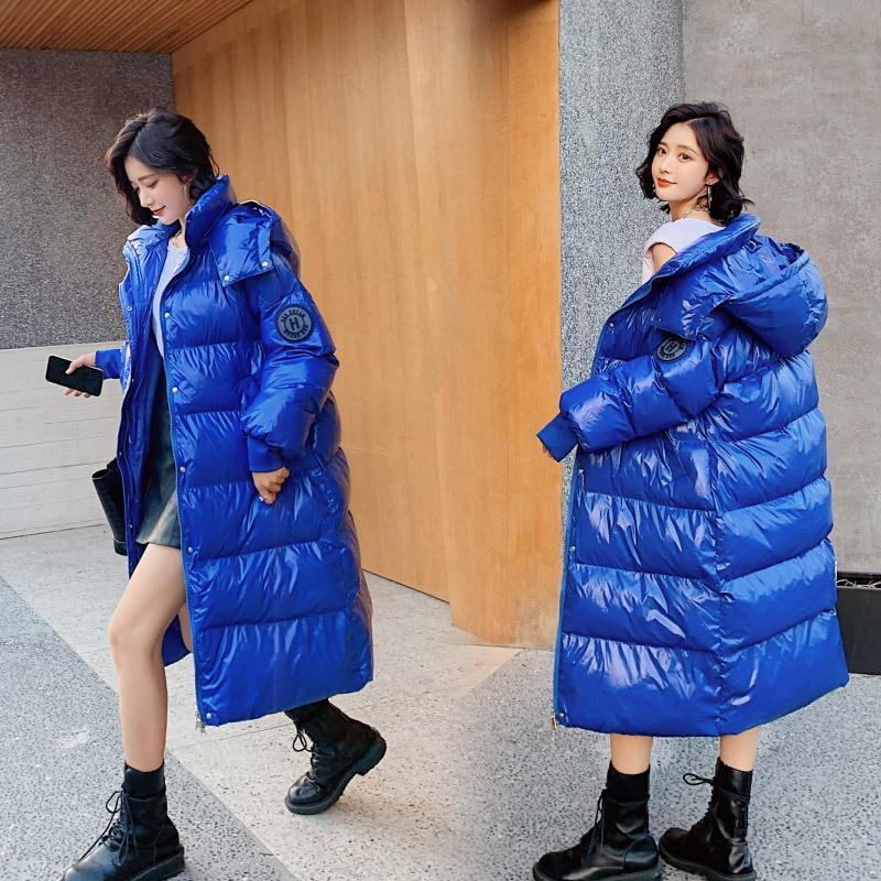 FnOce 2020 hiver NOUVEAUX Femmes Down Cato Jason Street Fashion Jeune lettre Imprimer Long Mouwen Mouwen Capuche Rits X-Long Veste