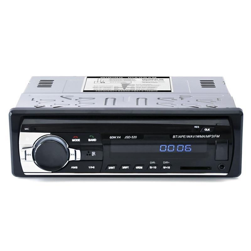 Auto Audio JSD-520C-B 1Din In-Dash Radio 12V Digital Bluetooth Autoradio Stereo FM AUX-Eingabe USB-Musik MP3-Player