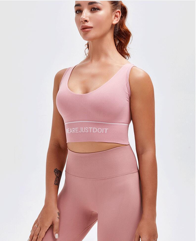2021 نوع جديد من المرأة الرياضية الملابس الداخلية ضيق الصدمات امتصاص الصدمات العودة اليوغا سترة تشغيل اللياقة البدنية البرازيلي