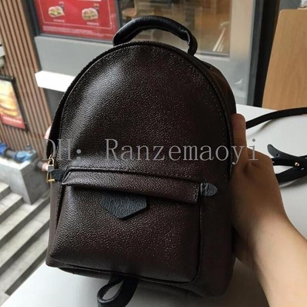 2020 New Hot Backpack Seyle! Design originale in vera pelle mini borsa da donna per bambini zaino lusso famoso moda molle palma
