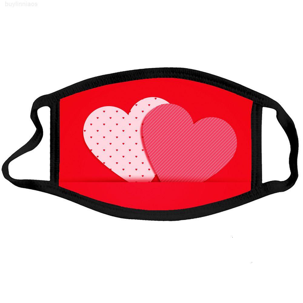 Masque Saint Valentin Face Masque Coton Coton pour adultes Masques d'embouchons anti-poussière Réutilisables Masques de mariage de mariage lavables FW 201