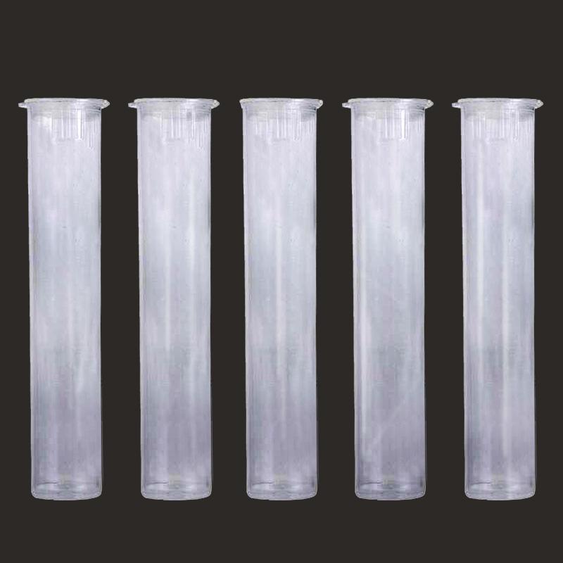 카트리지 포장 튜브 0.5ml 1ml 플라스틱 튜브 클리어 아이 카트리지 vape 펜 PP 사전 롤 72mm 튜브 용기 DHL 무료