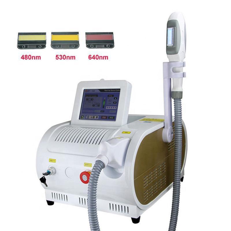 휴대용 레이저 머리 제거 기계 OPT SHR IPL 고통스러운 영구 머리 제거 피부 회춘 기계 아름다움 악기