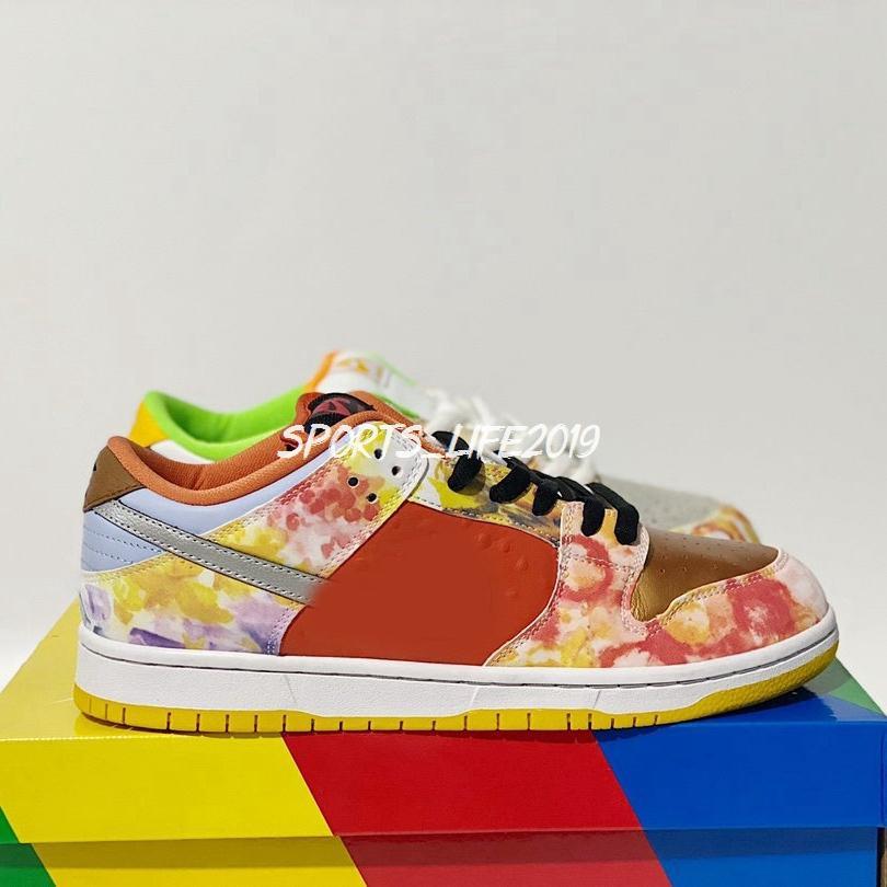 2020 Nuovi Dunks Scarpe da corsa Uomo Donna Sneakers CNY Mandarino Duck Desginer Skateboard Trainer Zapatos des Chaussures CV1628-800