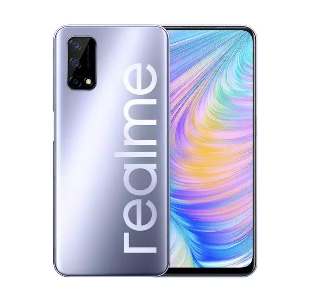 Original Realme Q2 5G Handy 4GB RAM 128GB ROM MTK 800U Octa-Core Android 6.5 Zoll Full Screen 48MP Fingerabdruck-ID intelligentes Handy