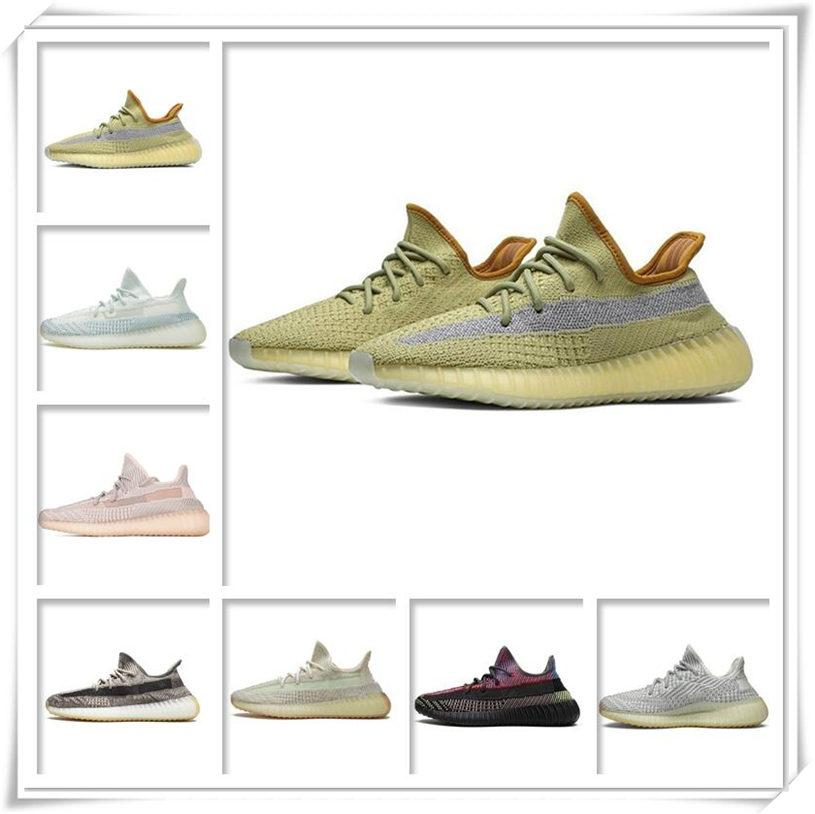 Erkek Bayan Spor Ayakkabı 2021 Kanye West Ash-Stone Güneş Moda Toptan Işık Yansıtıcı Rahat Ucuz Sneakers Tenis Ayakkabı Boyutu 36-48