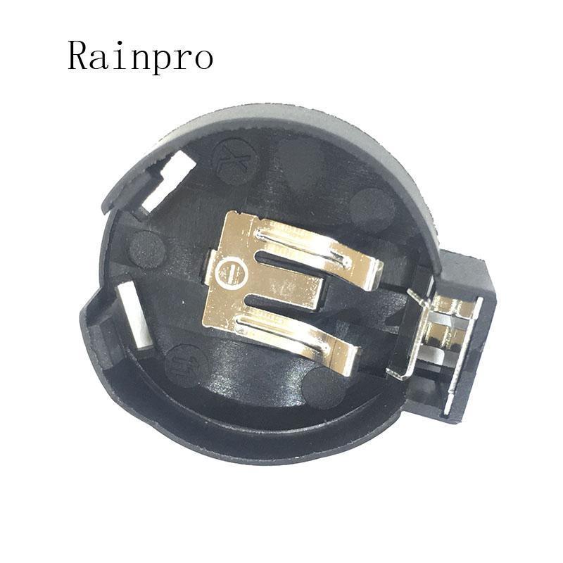 Scatole di immagazzinaggio della batteria RAINPRO 5 PZ / lot CR2450 2450 Cella di moneta con bottoni della batteria del bottone della batteria Caso 2 Pins nera.