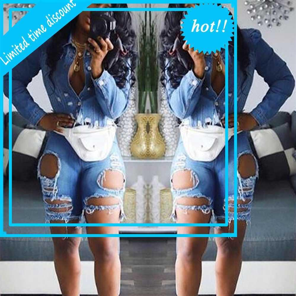 Jeans sexy sexy trafitto da donna A3108 2019