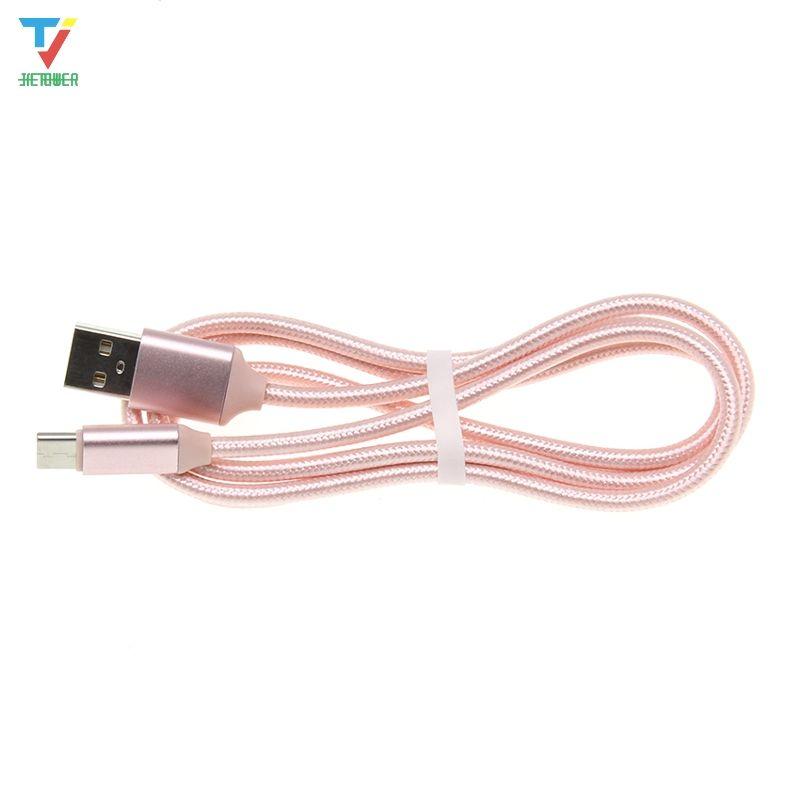 Schnellladung Neue Shell Nylon Geflochtene Micro USB-Typ C Kabel-Ladegerät für Huawei-Telefonladung USBC-Kabel 50pcs / lot
