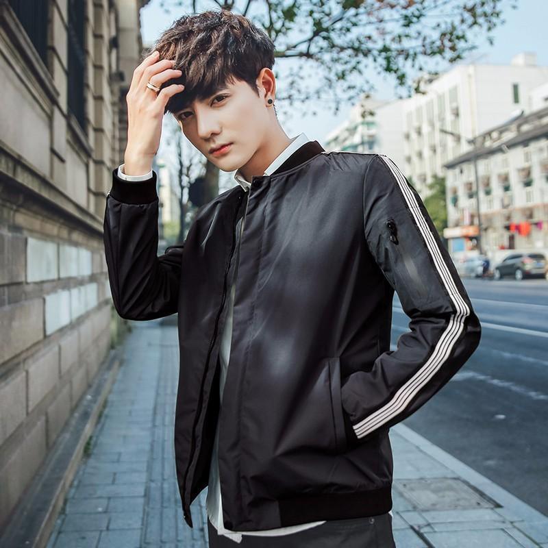 2021 Yeni sonbahar rahat ince zarif erkek ve çok renkli adamın fermuar ceketler ile yakışıklı genç öğrenciler 6cts