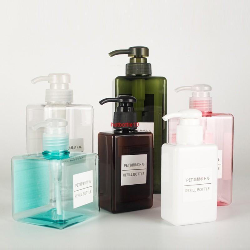 12 pcs 100ml 150ml 250 ml 280 ml 450 ml de bouteilles de lotion de 650 ml de bouteilles de shampooing de pompe de shampooing gel de douche gel distributeurs