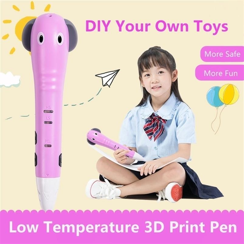Ucrt Niedertemperatur 10 / 60m PCL-Filament 1,75mm Drucken 30-40, sicherer 3D-Druckstift für Kinderbeste Geschenk 201214
