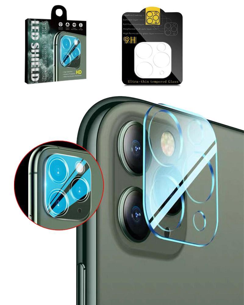 9H lente de câmera vidro temperado para iphone 12 mini 11 pro max back câmera filme protetor de tela cheia capa 3d