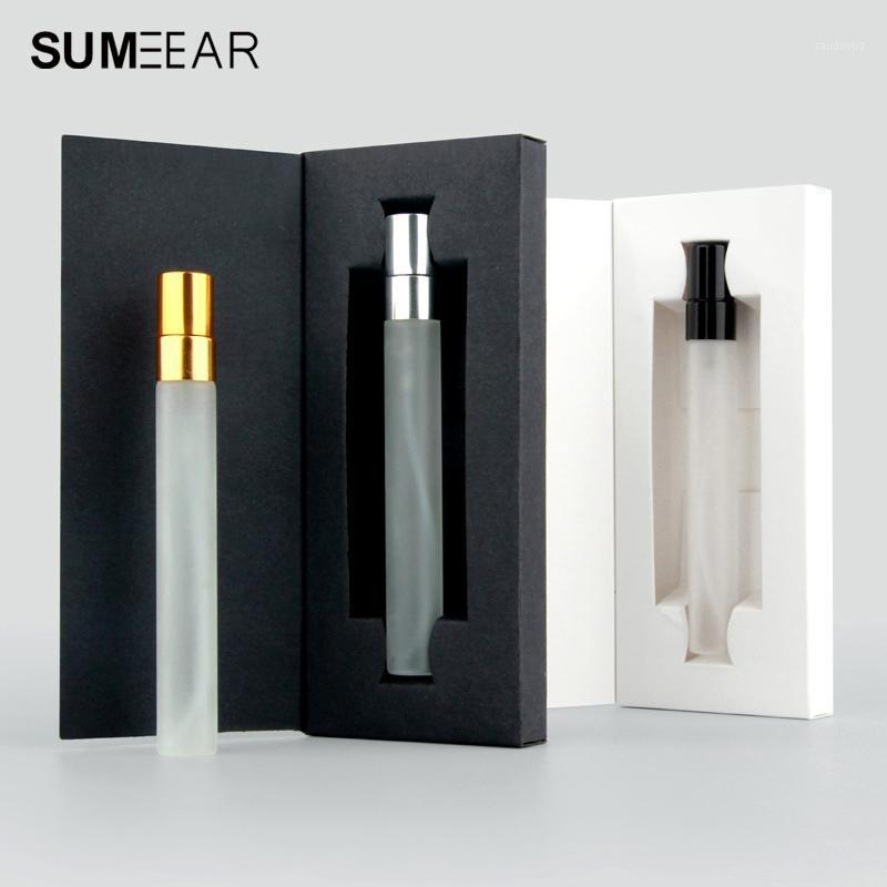 20pcs 10ml Empty Roll on Bottle Essential Oil Frosted Glass Perfume Refillable Cosmetic Gift box with packaging1